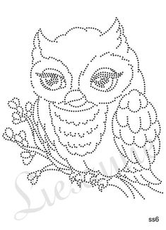 Uil Owl Patterns, Applique Patterns, Cross Stitch Patterns, Embroidery Cards, Beaded Embroidery, Embroidery Designs, String Art Templates, String Art Patterns, Arte Linear