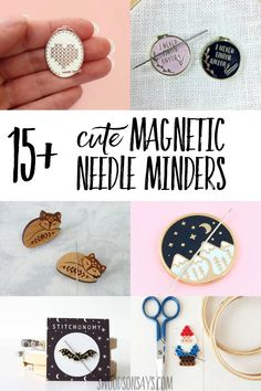 Cross Stitch Embroidery These needle minders are so cute! Check out these fun magnetic needle holder options to buy or DIY; they are great little gifts for embroidery and cross stitch stitchers. Pecan Cobbler, Cross Stitch Embroidery, Cross Stitch Patterns, Hand Embroidery, Cross Stitches, Modern Embroidery, Floral Embroidery, Embroidery Designs, Leftover Fabric