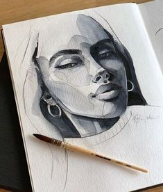 Sketch Set is the highest quality art supplies with all the tools you need to create your own masterpiece. Great for artists and student use. Different types of tools in one case L'art Du Portrait, Portrait Sketches, Drawing Sketches, Pencil Drawings, Art Drawings, Drawing Lips, Pencil Portrait, Drawing Ideas, Art Inspo