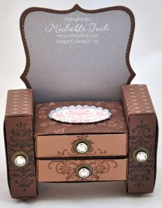 Artisan Award 3D Matchbox Dresser by mtech - Cards and Paper Crafts at Splitcoaststampers