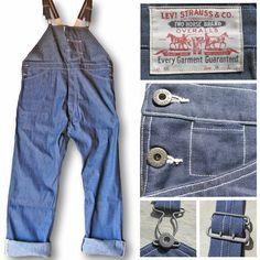 c9ac8414daa5 Levis Vintage Clothing Bib   Brace Dungarees Rigid Denim LVC Made in USA  W34 L34