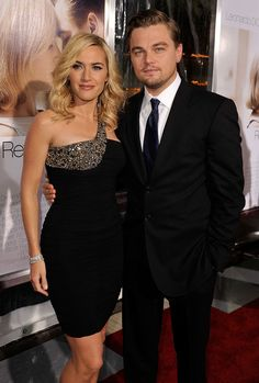 "Two very beautiful/stylish people. Kate Winslet and Leonardo DiCaprio at the ""Revolutionary Road"" premiere."