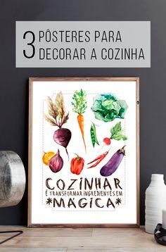 No mês do Chef, pôster para decorar a sua cozinha \o/!