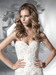 Awesome A-Line Sweetheart Sleeveless Floor-Length Chapel Beaded Wedding Dresses