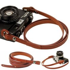 Brown whole leather Camera neck shoulder strap for Film SLR DSLR RF Leica Digital * Details can be found by clicking on the image. Camera Hacks, Camera Nikon, Camera Gear, Canon Cameras, Iphone Camera, Canon Lens, Camera Case, Camera Neck Strap, Leather