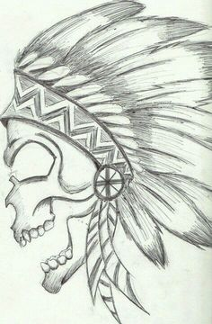Native American Skull                                                                                                                                                                                 Mais