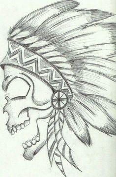 Native American Skull                                                                                                                                                                                 Mais