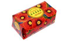 """Remodelação da decoração da embalagem para sabonete aromático """"Poppi"""" e """"Citro"""", da Ach. Brito."""