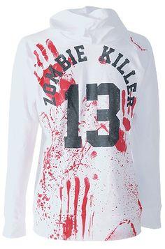 Darkside Clothing - Zombie Killer Girl's Skinny Hoody