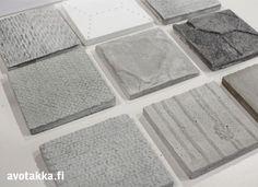 Ylle concrete tiles by Elina Helenius. Materiaalimarkkinat eli Habitaren 2014 parhaat   Avotakka