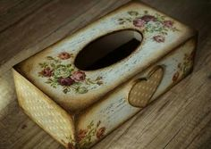 Decoupage tissue box                                                                                                                                                     More
