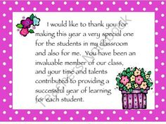 Parent Volunteer Thank You Cards for the End of the Year from Creativity in Teaching on TeachersNotebook.com -  (2 pages)  - This is a colorful thank you card with a thoughtful message to use for your parent volunteers at the end of the school year. I print it on white card stock, hole punch it in the corner, and attach it to a small gift bag filled with cookies, tea bags, gift