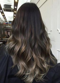 Balayage hair will refresh your look and fix some flaws in the appearance. Find out what balayage highlights will suit your hair length, type and texture. Ash Brown Hair Color, Ash Brown Ombre, Black Ombre, Hair Color Ideas For Black Hair, Hair Color Asian, Brown Colors, Hair Highlights, Color Highlights, Highlights For Straight Hair