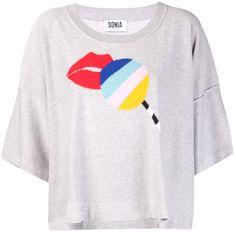 Sonia Rykiel Lollipop Short Sleeve Sweater on shopstyle.com