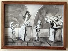 Past Exhibitions — The Voorkamer Gallery Statues, Watercolour, Past, Ink, Gallery, Drawings, Room, Painting, Pen And Wash