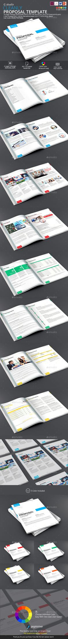 Cleanly Proposal Template Business Proposal Template Single