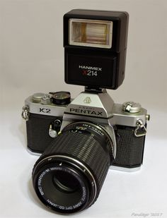 Asahi Pentax K2 (1975) with Asahi, 100mm (10cm) f4 SMC Pentax-M Macro (PK) (1970)