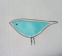 white vinyl applique bird pouch   Flickr - Photo Sharing!