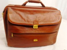 WEBA Executive Leather Suitcase Travel Bag, SWISS LOCK~Brown. $169.15