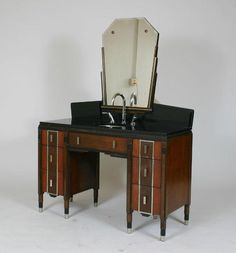 Art Deco Vanity.  My grandma had something similar and I loved to play with my cousin- using her makeup, hair rollers etc.