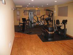 another gym w/cork floor