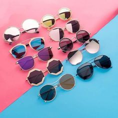 Check out super awesome products at Shire Fire! :-) OFF or more Sunglasses SALE! Ray Ban Sunglasses, Mirrored Sunglasses, Round Sunglasses, Sunglasses Women, Trending Sunglasses, Stylish Sunglasses, Four Eyes, Eye Glasses, Glasses Shop