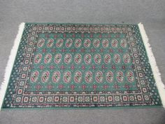 Green Red Area Rug