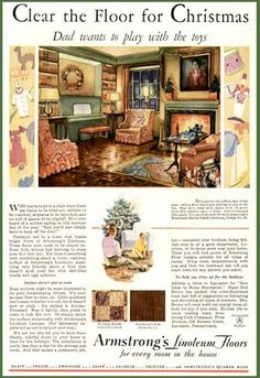 1930s Living Room Decor in 1930 Armstrong Linoleum Ad | eBay