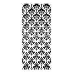 Elegant Black and White Damask Pattern Rack Card - vintage gifts retro ideas cyo