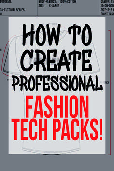 A Tech Pack is a necessity if you want to create your own unique fashion products. No matter if you are a fashion designer, an Entrepreneur who wants to build a clothing brand from scratch or just a someone who want to create some unique designs. We going to show you how you can easily create professional looking Fashion Tech Packs on your own! You only need a working Version of Adobe Illustrator, some inspiration and some patience. #DIY #FASHION #DESIGNER