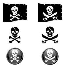 Pirate symbol vector art illustration