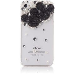MoMo Store Luxury 3D pearl and Rhinestone Crystal Mickey mouse /Minnie... ($4.29) ❤ liked on Polyvore featuring accessories, tech accessories, phone cases, phones, cases, electronics, iphone cases, iphone 4 hard case, crystal iphone 5 case and iphone 6 case