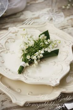 LILY OF THE VALLEY TABLESCAPE www.MadamPaloozaEmporium.com www.facebook.com/MadamPalooza