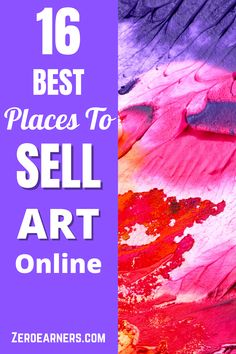 Looking for the best places to sell art? Here is the complete collection of the best places to sell art online. #sellart #art #artwork #makemoney Sell Used Stuff Online, Sell Stuff, Make Money Online, How To Make Money, Selling Art Online, Online Art, Cool Websites, Sell Your Art, Extra Money