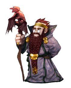 Dwarf Wizard Abjurer - Karburtin Lightbrand - Ironfang Invasion - Pathfinder PFRPG DND D&D d20 fantasy