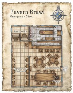 Floorplan of a tavern.