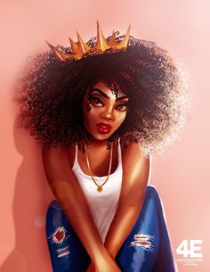 Pele real do iPhone por foreverestherr Black Love Art, Black Girl Art, My Black Is Beautiful, Black Girls Rock, Black Girl Magic, Natural Hair Art, Natural Hair Styles, Black Girl Cartoon, Black Art Pictures