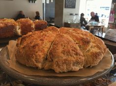 Mmmmm... freshly baked smoked apple wood cheddar scone! #loveyourcafe #scone #english #jackrabbits #cheese #derby #Ashbourne #bakery