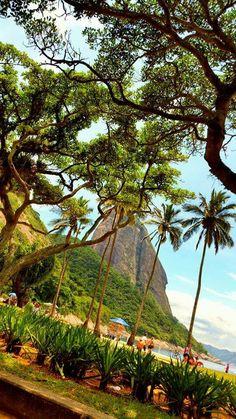 Praia Vermelha Rio de Janeiro, Brazil.