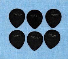 6 vintage HOPF German guitar picks #HOPF #GuitarPicks