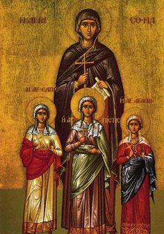 Saint Sophia and the Orphans, Faith, Hope & Love.