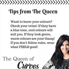 If you get your colours right, you will feel amazing in every outfit. Warm Colors, Colours, Blue Tones, Suits You, Feel Good, Knowing You, You Got This, Curves, Queen