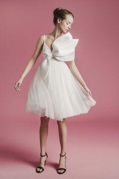 Sophie et Voilà Spring 2021 Bridal Collection Fringe Wedding Dress, Mini Wedding Dresses, Crepe Wedding Dress, Wedding Dress Sleeves, Designer Wedding Dresses, Bridal Dresses, Stunning Dresses, Dress Collection, Bridal Collection