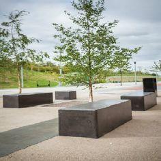 Delamere Concrete Bench | Street Furniture Direct