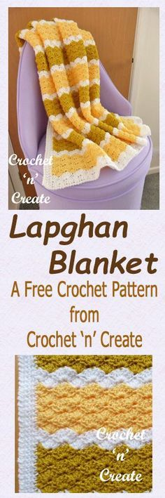 Free crochet pattern for lapghan blanket.