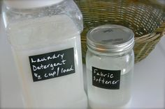 Homemade laundry detergent and fabric softener, works better than anything in the stores!