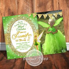 Tinker Bell, Tinker Bell Invitation, Peter Pan, Peter Pan Invitation, Invitations, Fairy Invitation, Think Tink, Tinker Bell Printables