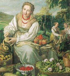 'Fruit Seller' by Vincenzo Campi, 1580.