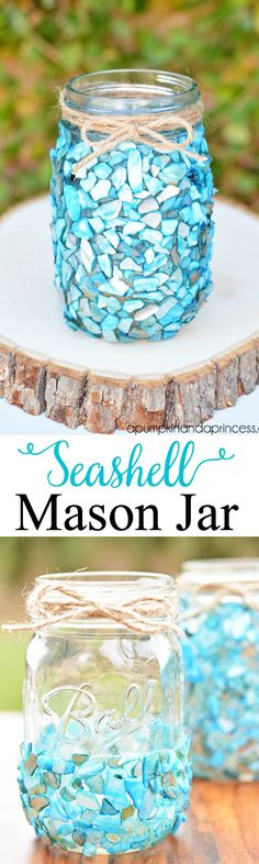 DIY Seashell Mason J