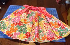 Reversible Circle Skirt for Bella (Back). Fabric by Jennifer Paginello. GIFT